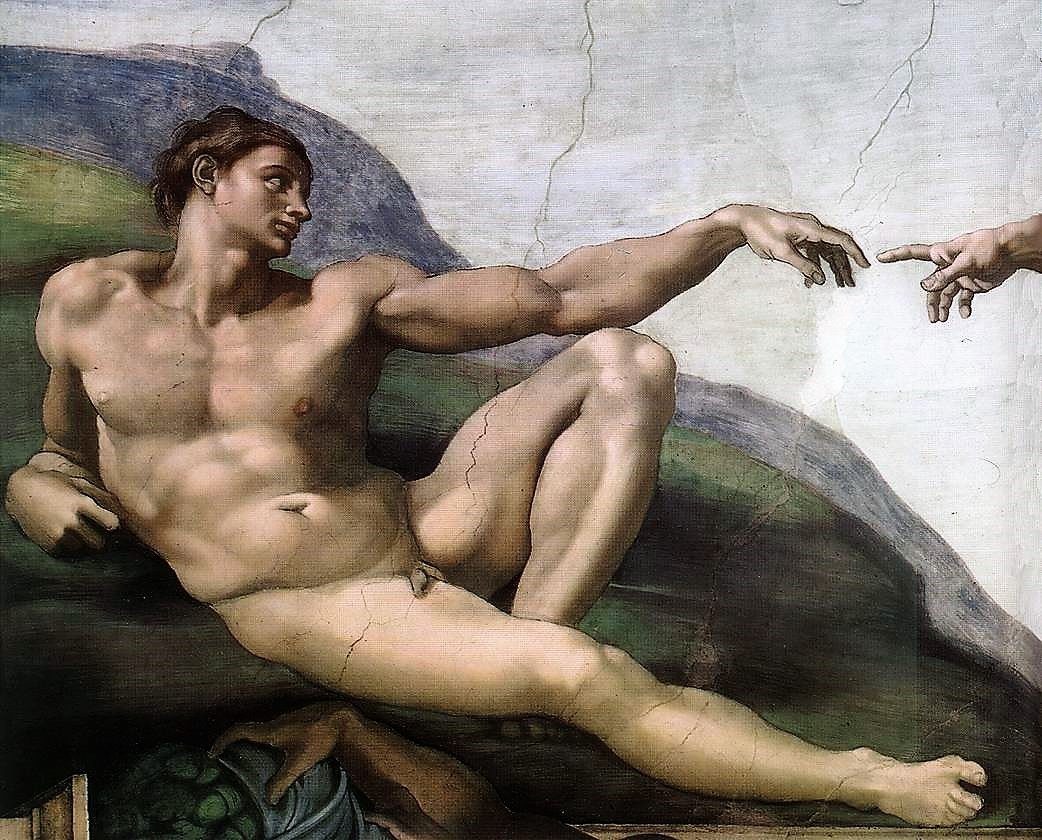 Michelangelo Creation of Adam 03